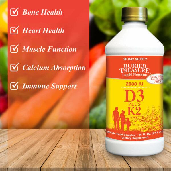 Buried Treasure liquid vitamin D3 promotes wellness