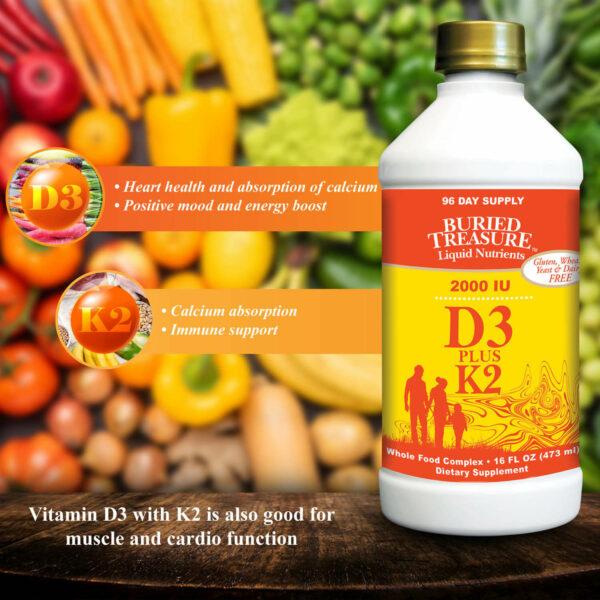 Buried Treasure liquid vitamin D3 promotes heart health