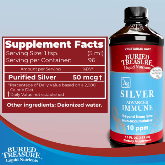 Buried Treasure Silver Advanced Immune Support ingredients