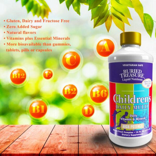 Buried Treasure liquid vitamins for children's complete